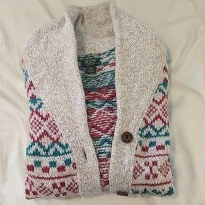 Festive roots sweater cardigan